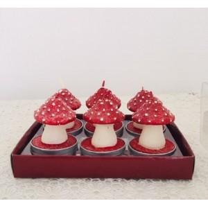 6 bougies forme champignons