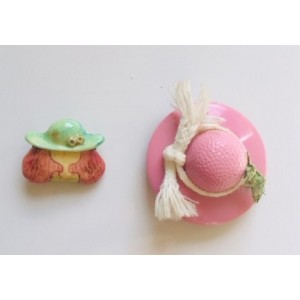 2 Broches vintage 80's girly