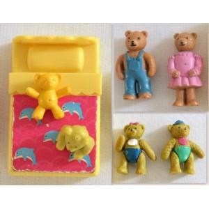 Figurines vintage Famille OURS