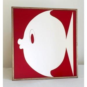 Miroir vintage poisson