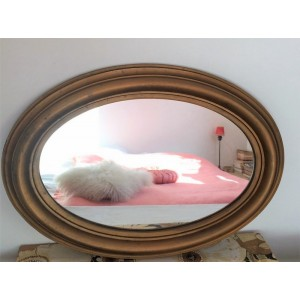 Miroir ovale vintage en...