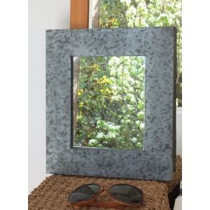 Miroir cadre en zinc