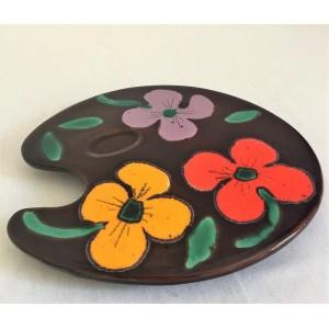 Plat ceramique forme Palette
